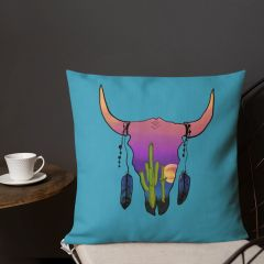 Southwestern Designer Premium Pillow, Choose: Turquoise, Purple, Midnight Blue, Charcoal or Hot Pink, 18x18