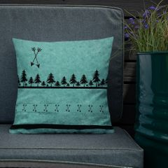 Teal Arrow Designer Premium Pillow, 18x18, Made in the USA