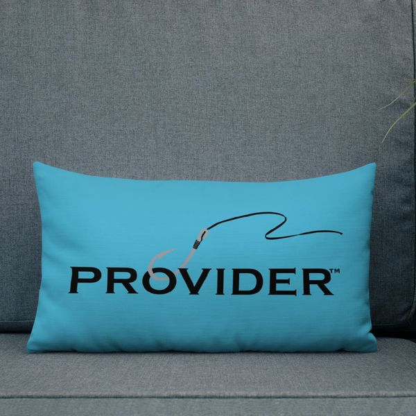 PROVIDER™ Premium Pillow, 20x12, Bright Blue CLEARANCE, Slight Imperfection