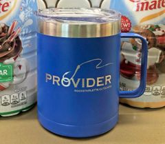 PROVIDER Fishing Logo Stainless Steel Mug, Blue, 14oz