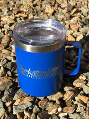 SALE 30% OFF, Rockstarlette Outdoors Logo Stainless Steel Mug, Blue, 14oz