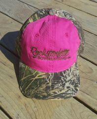 SALE 50% OFF, Hot Pink and Max 1 Camo Rockstarlette Bowhunting Logo Hat