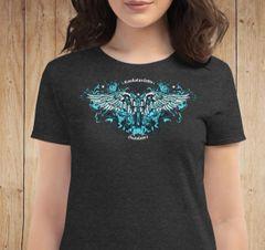 Handgun 2nd Amendment Logo T shirt, Relaxed Fit Crewneck, Heather Dark Grey
