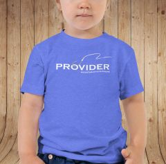 Youth PROVIDER™ T Shirt, Baby and Toddler Sizes, Pink, Blue or Black, Fishing or Hunting Logo, 6mos-5T