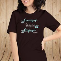 Encourage Inspire Empower Loose Fit Crewneck T Shirt, S-3XL (sz 0-20)