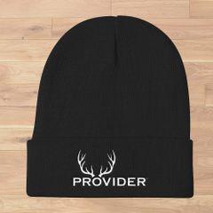 PROVIDER Hunting Logo Knit Beanie, Black