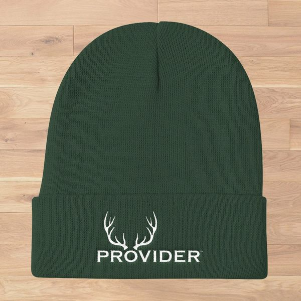 PROVIDER Hunting Logo Knit Beanie, Dark Green