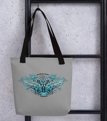 Tote Bag: Handgun 2A Logo, Made in the USA, Grey, Pink or Black