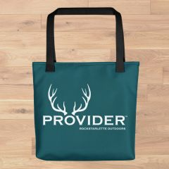 Tote Bag: PROVIDER™ Hunting Logo, Made in the USA, Black or Deep Teal