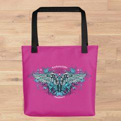 Tote Bag: Handgun 2nd Amendment Logo, Made in the USA, Grey, Pink or Black