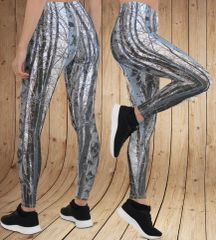 Birch Tree Leggings, Snow Camo Pattern