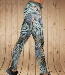Turkey Feather Pattern Leggings