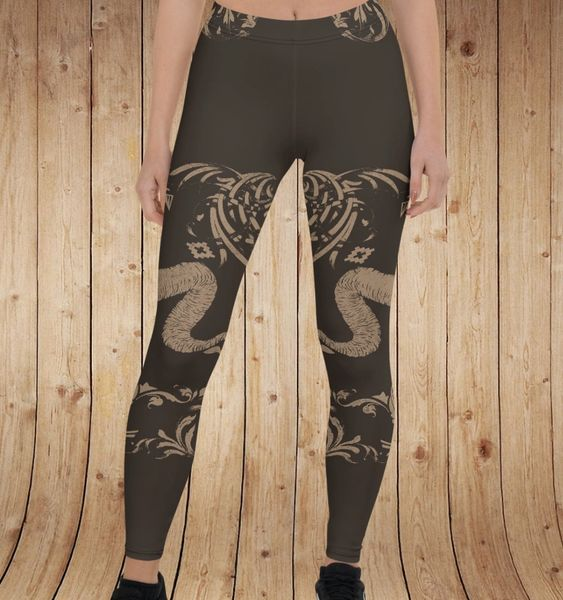 Tribal Sheep Leggings, Earth Tones