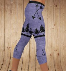 Arrow Leggings, Purple, CAPRI Version, Regular Waistband