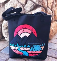 Tote Bag: Mountain Air Feeds My Soul, Rockstarlette Outdoors Made in the USA