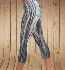 Birch Tree Leggings, CAPRI Version, Snow Camo