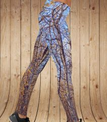 Birch Tree Leggings, Fall Camo Pattern