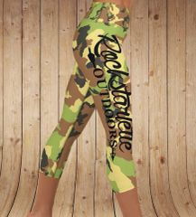 Camo Logo Yoga CAPRI, (Option to make Full Length)