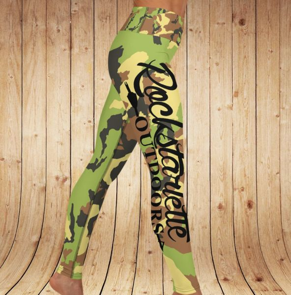Camo Logo Yoga Leggings
