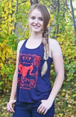 SALE 50% OFF, Be Brave Be Bold Ram / Bowhunting Logo Racerback Tank (XS/ 0-2 Only)