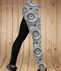 Shotgun Logo Leggings, Overlap Pattern