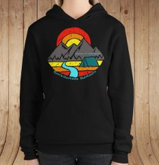 Mountain Air Feeds My Soul, Fleece Lined Pullover Hoodie, Black, NEW!