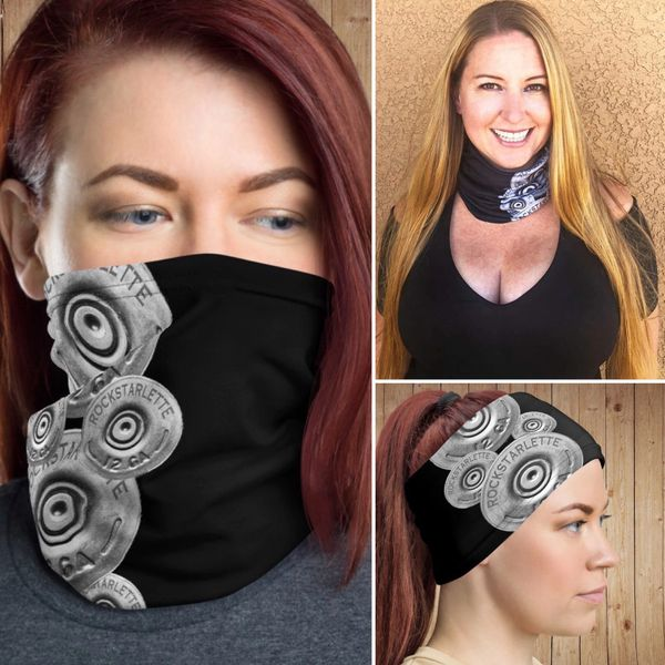 Face Shield/ Headband /Neck Gaiter, Shotgun Pattern