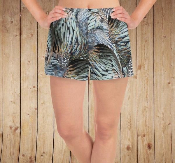 Turkey Feather Relaxed fit, Athletic Shorts with Pockets, Water Repellant/Quick Dry