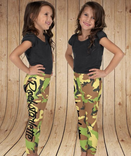 Youth Leggings, Camo, (2T-14) NEW!
