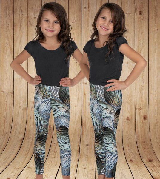 Youth Leggings, Turkey Feather, (2T- 14) Made in the USA