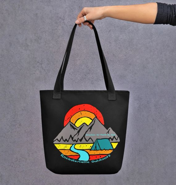 Tote Bag: Mountain Air Feeds My Soul, Rockstarlette Outdoors