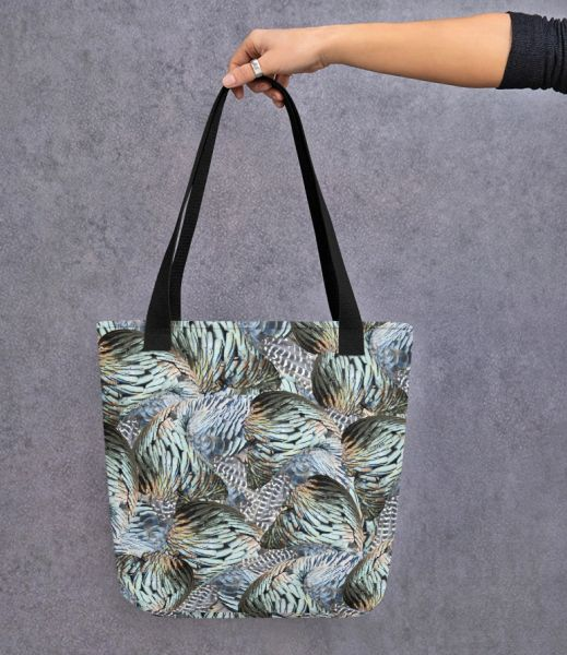 Tote Bag: Turkey Feather Pattern