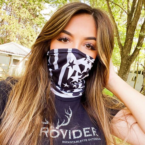 Face Shield/ Headband /Neck Gaiter, Stars and Stripes, NEW