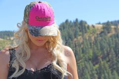 SALE $14 OFF, Hot Pink and Max 1 Camo Rockstarlette Bowhunting Logo Hat