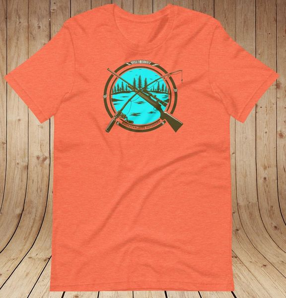Hunting & Fishing Logo Loose Fit T Shirt, Women's S-3XL (0-22), Mint, Orange or Peach