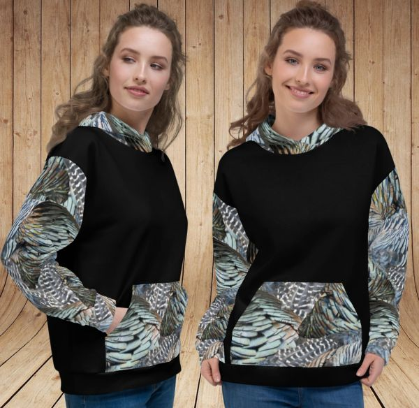 Turkey Feather, Ultra Thick, Fleece Lined, Pullover Hoodie NEW!
