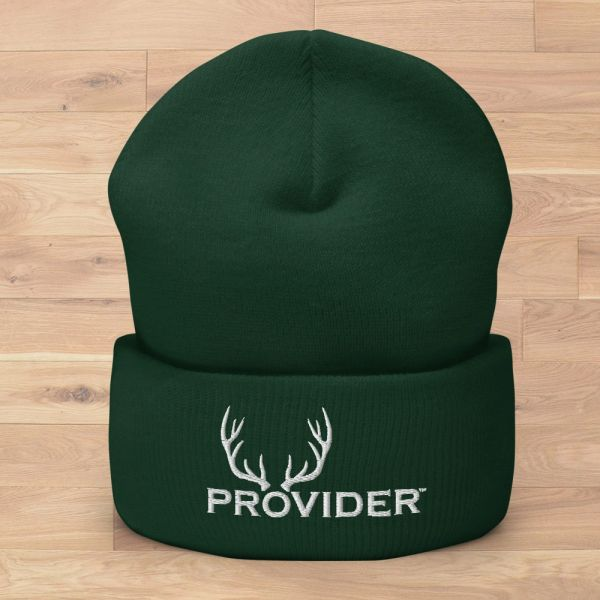 PROVIDER™ Hunting Logo Knit Beanie, Dark Green