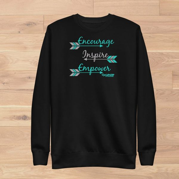 Encourage. Inspire. Empower. Logo Sweatshirt, NEW!