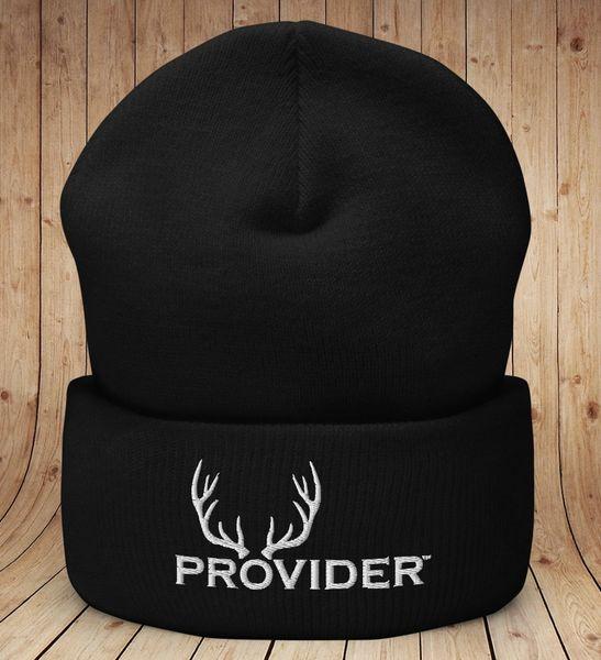 PROVIDER™ Hunting Logo Knit Beanie, Black