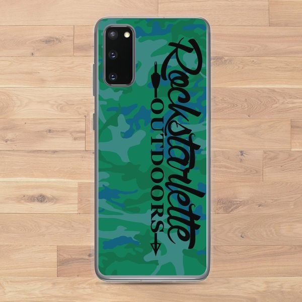Samsung Galaxy Case, Green/Blue Camo Logo (Choose Model) FREE Shipping