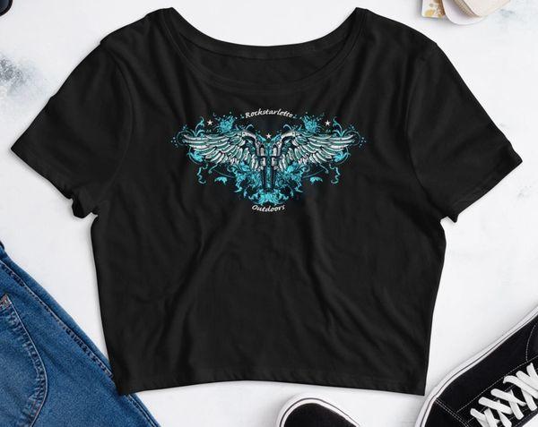 Second Amendment Handgun 2A Logo, Crop Top T shirt