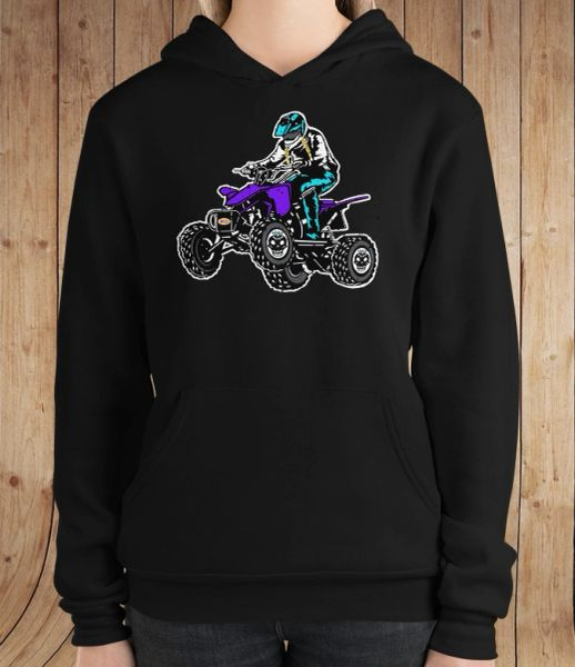SALE 20% OFF, Offroad Grrrl 4 Wheeling Logo Fleece Lined Pullover Hoodie, Medium Size 6-8