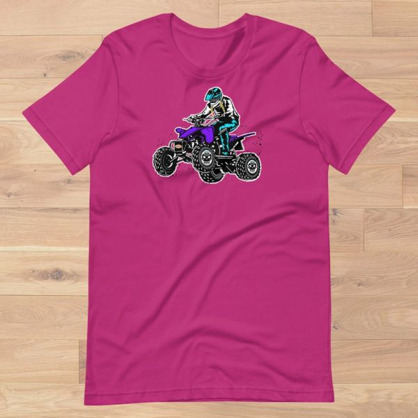Rockstarlette Off Road ATV Loose Fit Logo T Shirt, Women's S-3XL (0-22), Black or Hot Pink