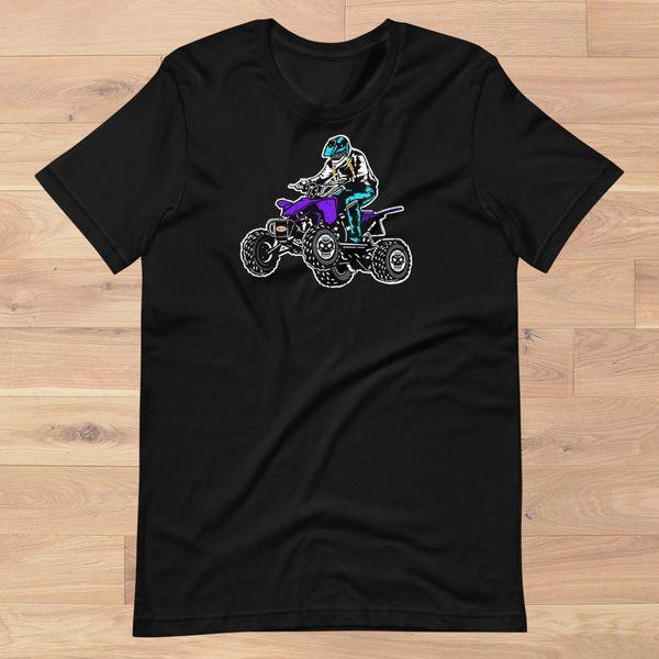 Rockstarlette Off Road ATV Loose Fit Logo T Shirt, Women's XS-3XL (0-22), Hot Pink or Black