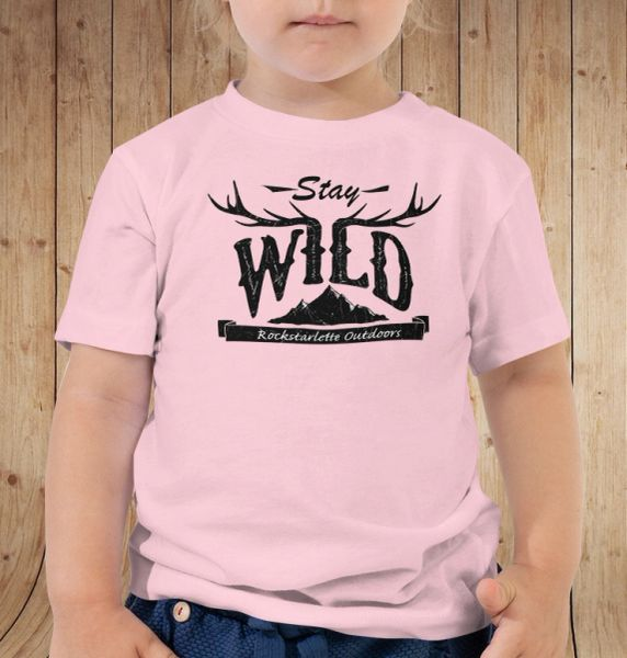 Youth Stay Wild T Shirt, 6 mos-5T