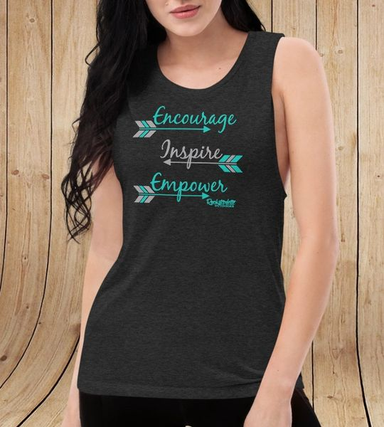 Encourage Inspire Empower, Relaxed Fit Tank Top/ Muscle T