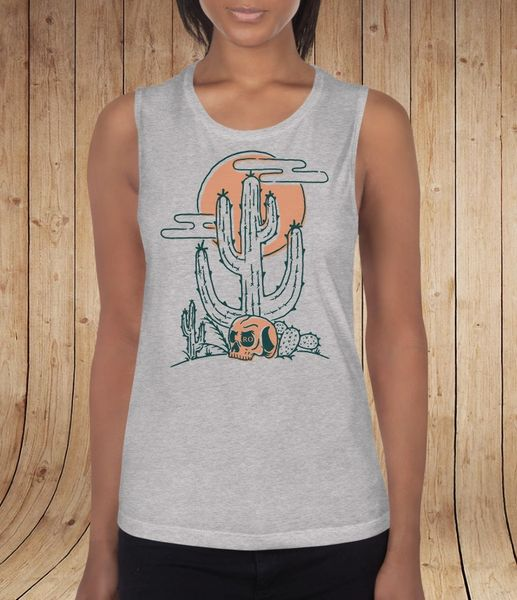 Desert Vibes, Relaxed Fit Muscle Tank Top, NEW! Athletic Grey or Mint