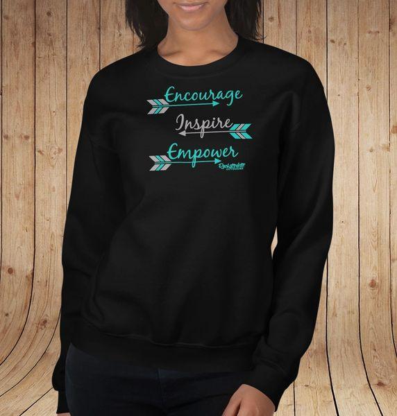 Encourage. Inspire. Empower. Logo Sweatshirt