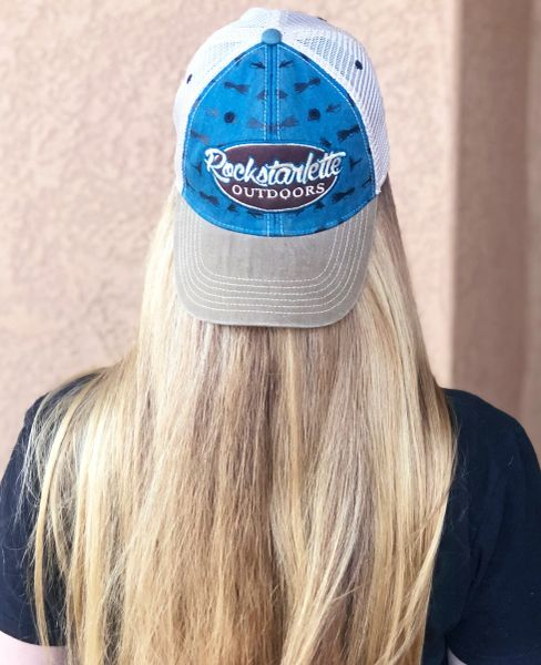 Fly Fishing Rockstarlette Outdoors Logo Mesh Back Hat, NEW
