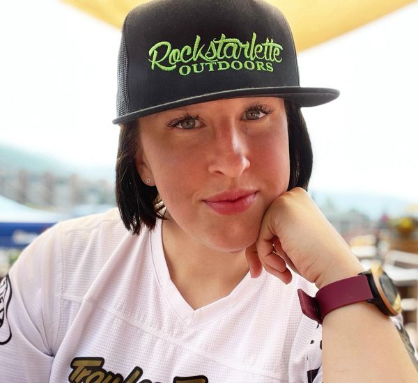 Rockstarlette Outdoors Logo Flat Bill, Mesh Back Hat, Hot Pink or Lime Green Stitching NEW